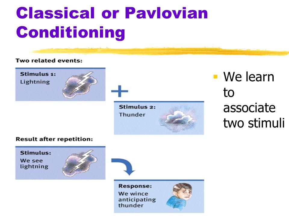 Pavlovian learning model