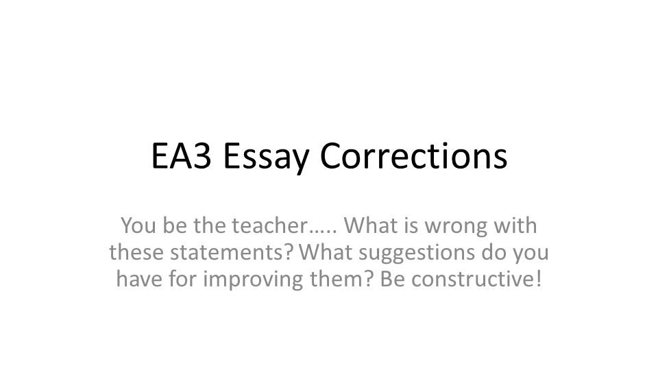 corrections essay 3