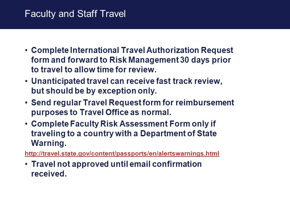 International Travel Policy Uam 1404 Approved And Signed By