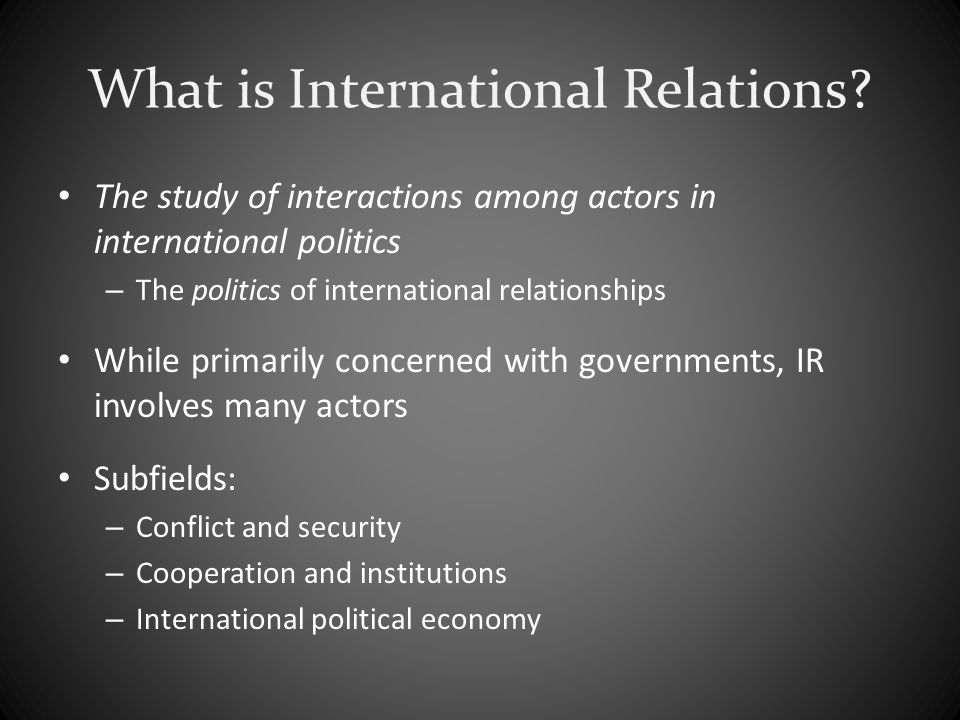 case study methods in the international relations subfield Process tracing and security studies methods in the international relations subfield case study methods in international security.
