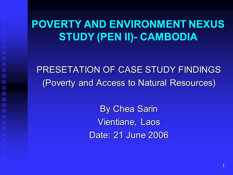 poverty case study