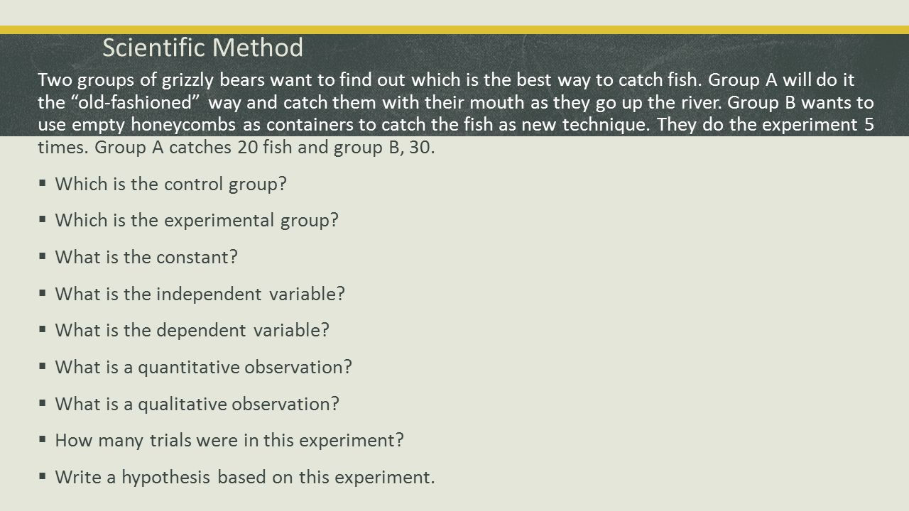 1 st 9 weeks Review Scientific Method, Characteristics of life and ...