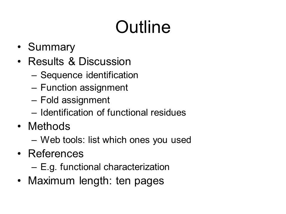 Image result for outline of assignment