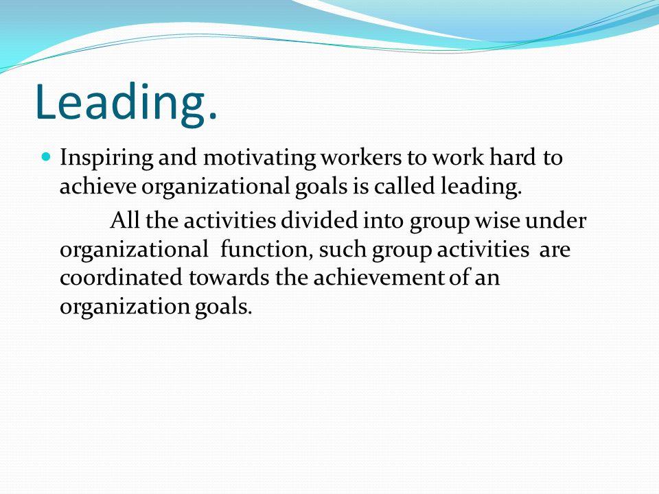 Leading.