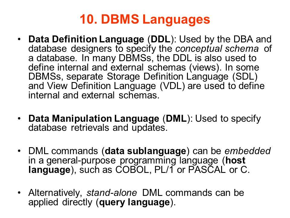 34 10 Dbms Languages Data Definition