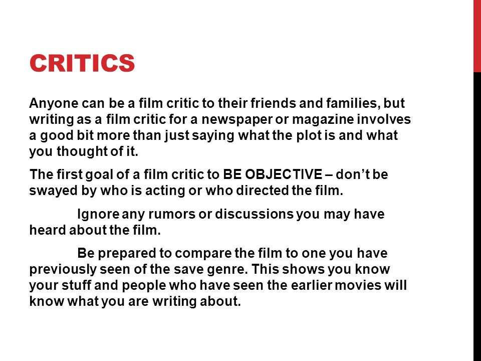 How To Write A Movie Review Essay