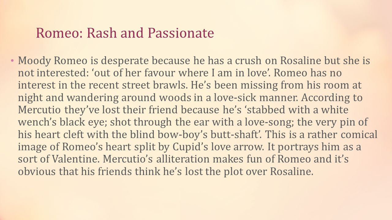 What does romeo say when he compares rosaline to juliet?