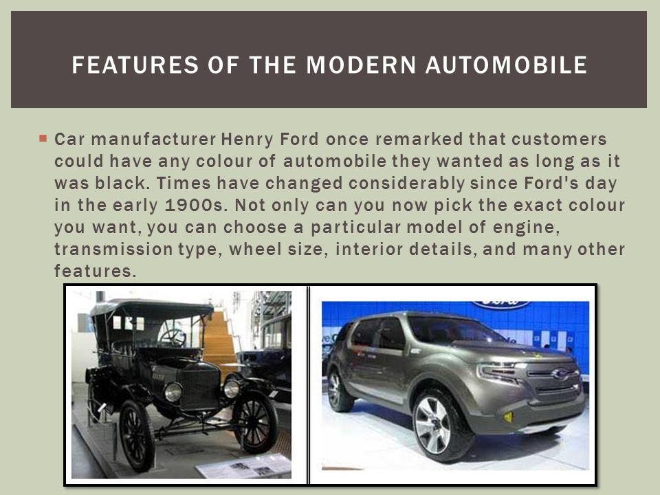 UNIT 2: TRANSPORTATION LESSON 6: MODERN AUTOMOBILE FEATURES. - ppt ...