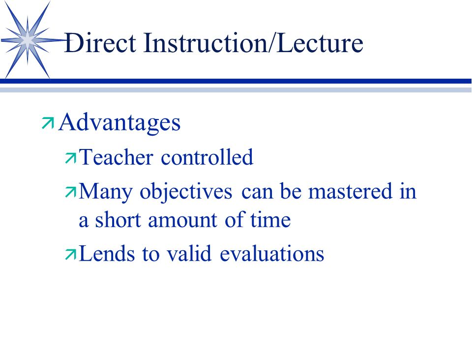 Educational Methods The bag of tricks