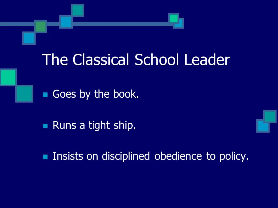 Principles of Classical Theory in Today's Schools Hierarchy Unit of Command Span of Control