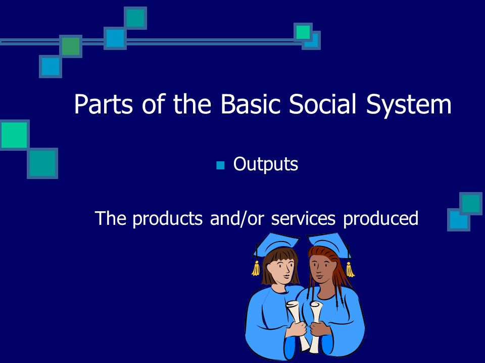 Parts of the Basic Social System Transformation Process The interaction between and among the parts