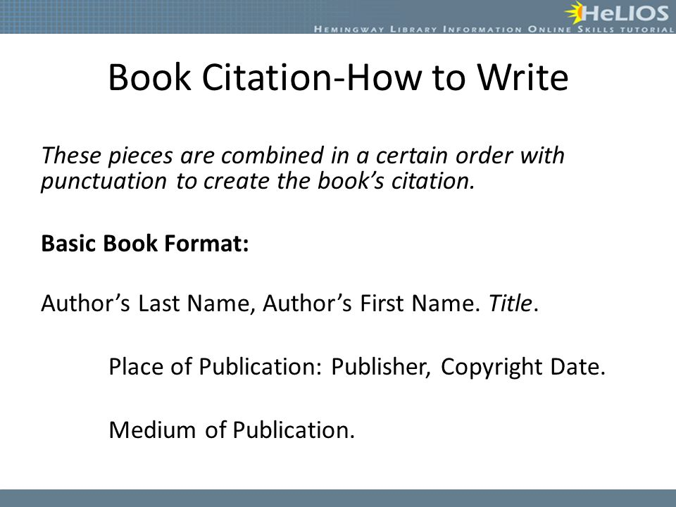 Creating Citations and Works Cited Page Objective: Students will ...