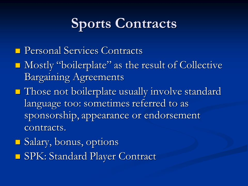 Chapter  Sports Contracts All Contracts Offer Offer Acceptance