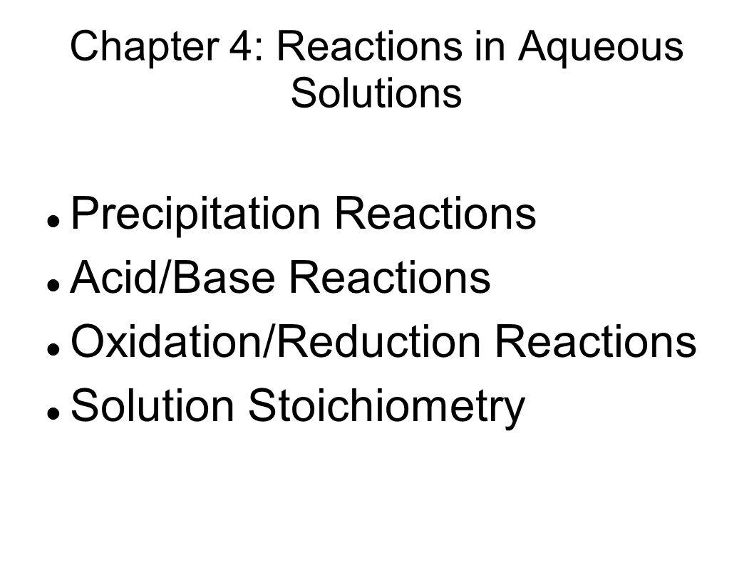 stoichiometry of precipitation reaction