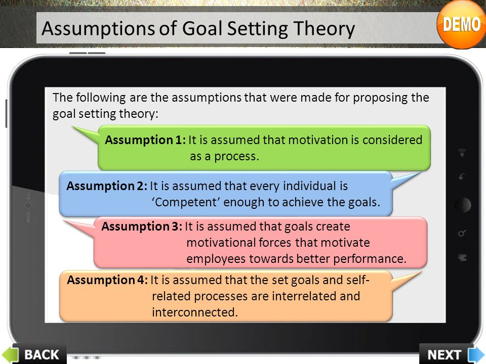 Assumption 1: It is assumed that motivation is considered as a process.