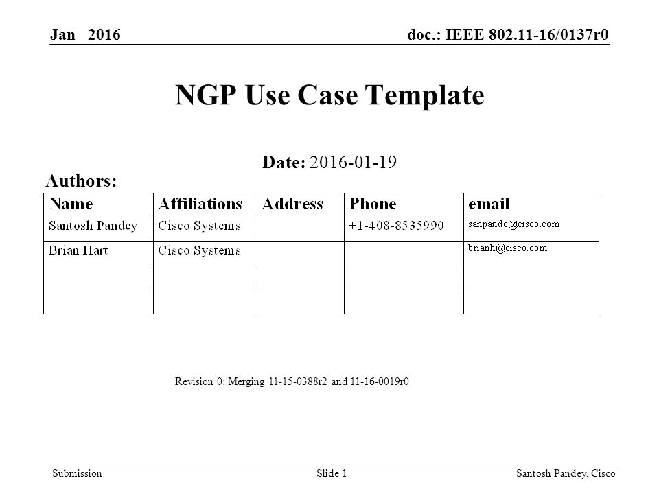 Submission Jan Doc Ieee R Slide  Ngp Use Case