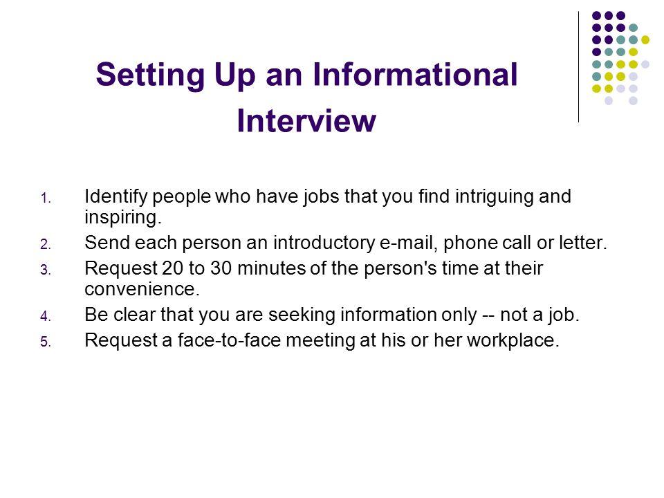 request informational interview