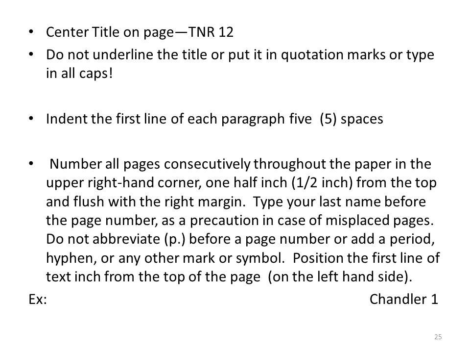 Proofreading marks indent