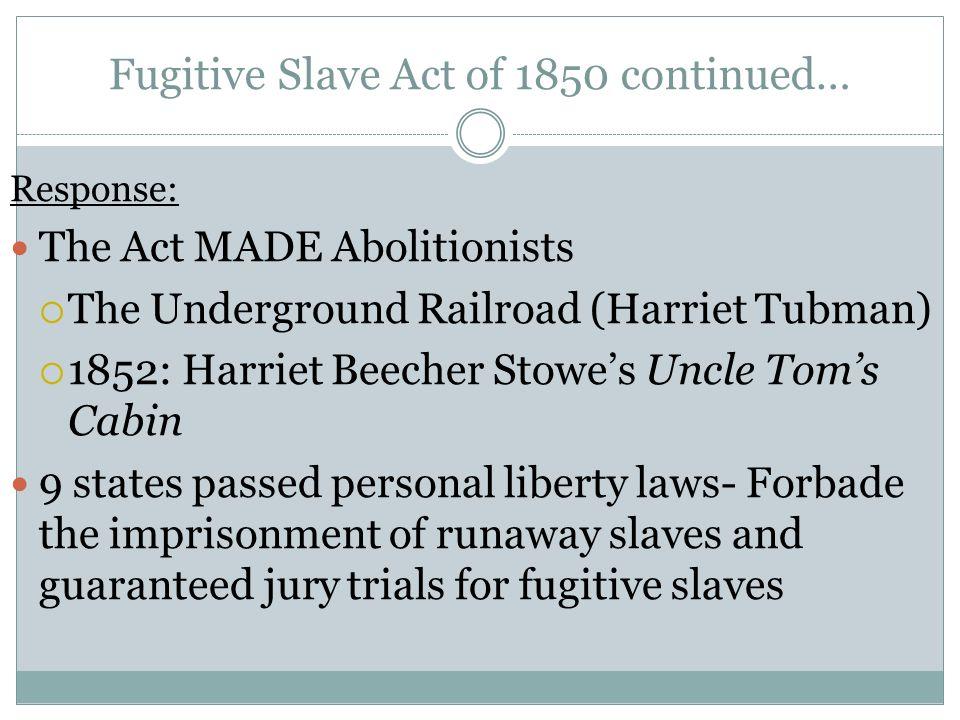 fugitive slave act 1850 essay