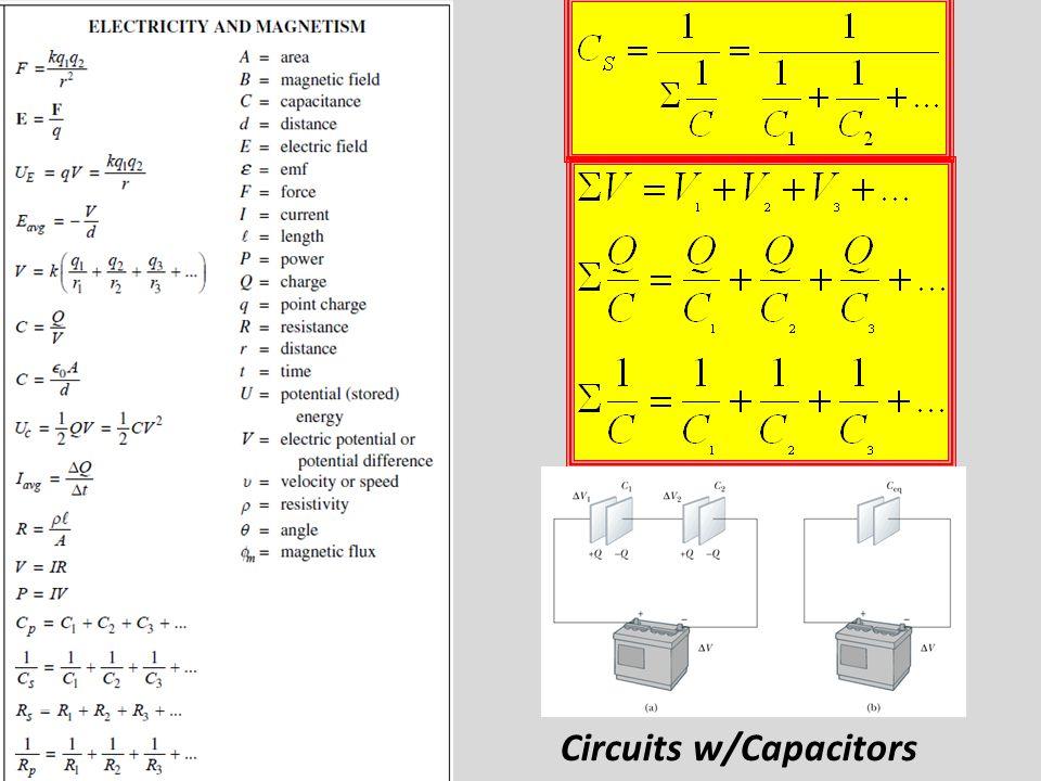 Circuits w/Capacitors