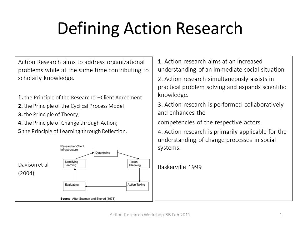 brief definition of action research