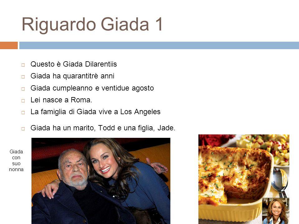 Riguardo Giada 1 Questo è Giada Dilarentiis Giada ha quarantitrè anni Giada cumpleanno e ventidue agosto Lei nasce a Roma. La famiglia di Giada vive a