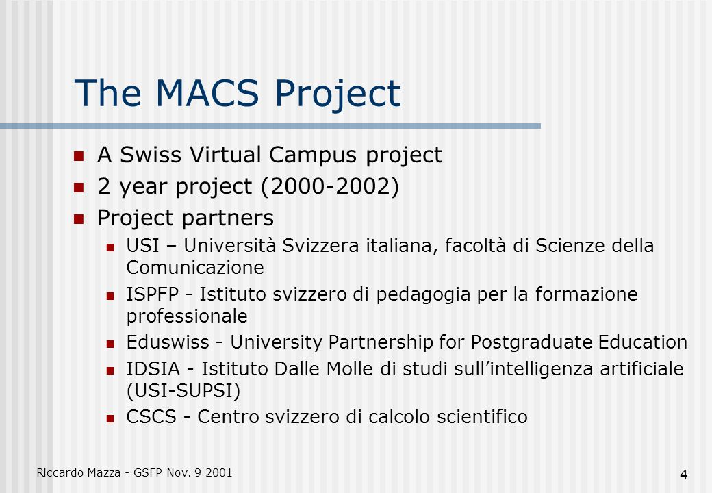 Riccardo Mazza - GSFP Nov. 9 2001 15 Facts and figures: articles posted in discussion forums