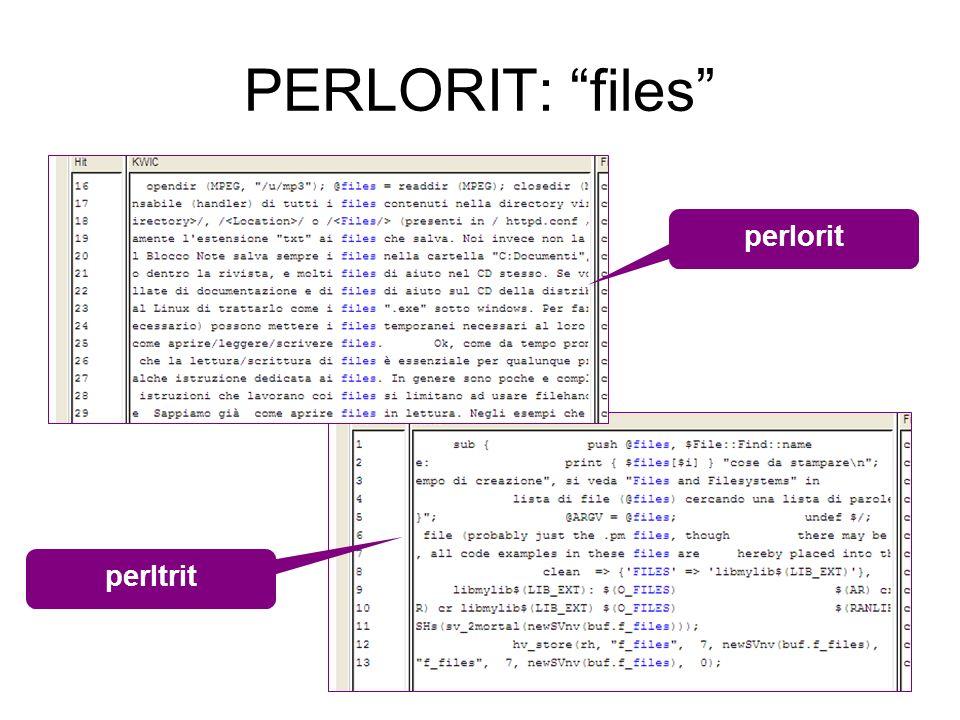 PERLORIT: files perlorit perltrit
