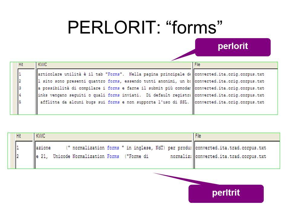PERLORIT: forms perltrit perlorit