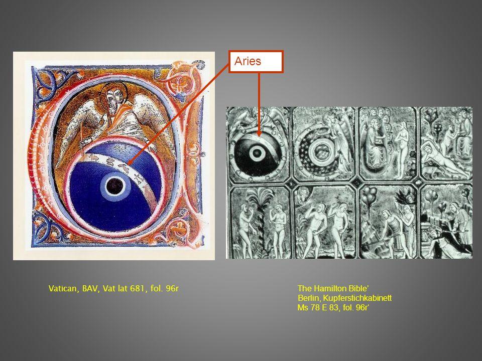 Vatican, BAV, Vat lat 681, fol. 96r The Hamilton Bible Berlin, Kupferstichkabinett Ms 78 E 83, fol.