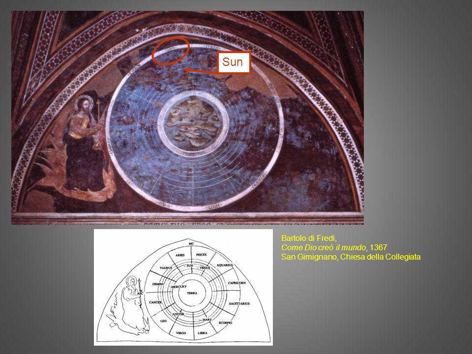 Sun Bartolo di Fredi, Come Dio creò il mundo, 1367 San Gimignano, Chiesa della Collegiata