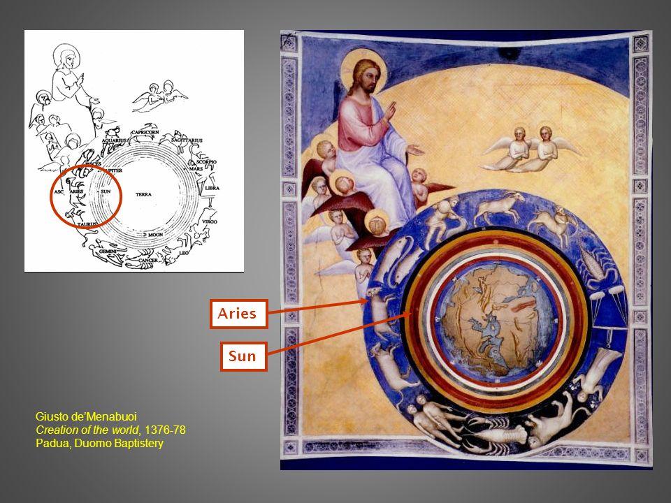 Aries Sun Giusto deMenabuoi Creation of the world, 1376-78 Padua, Duomo Baptistery