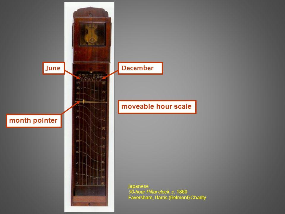 Japanese 3 0-hour Pillar clock, c.