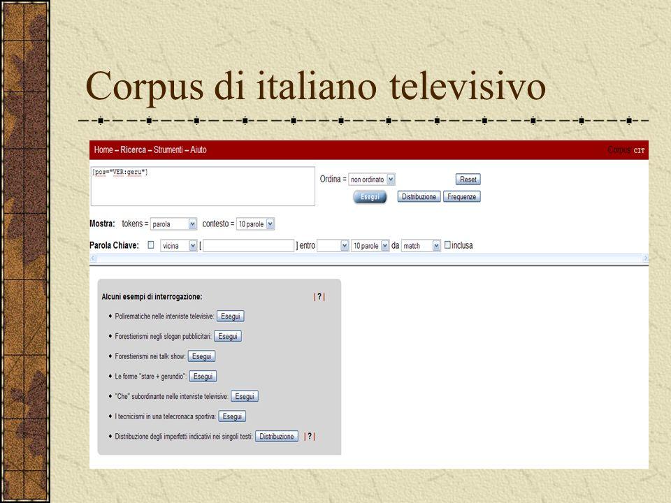 Corpus di italiano televisivo