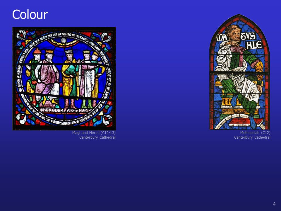 4 Colour Methuselah (C12) Canterbury Cathedral Magi and Herod (C12-13) Canterbury Cathedral