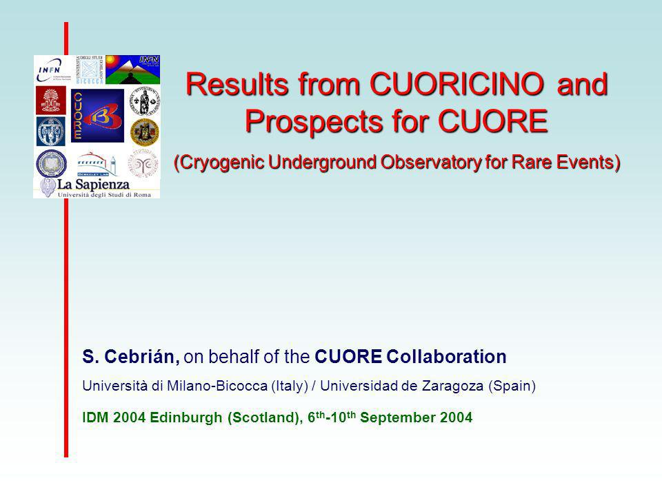 Results from CUORICINO and Prospects for CUORE (Cryogenic Underground Observatory for Rare Events) S.