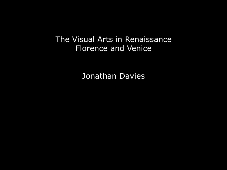 What were the functions of the visual arts in Florence and Venice.