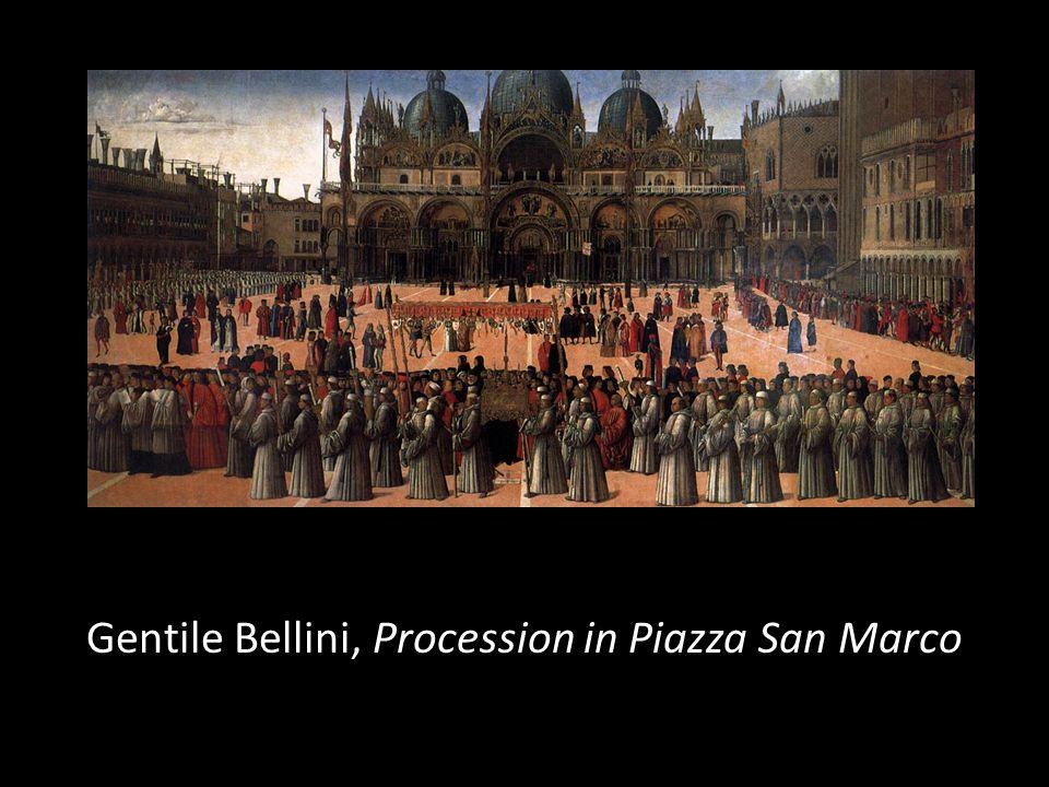Gentile Bellini, Procession in Piazza San Marco