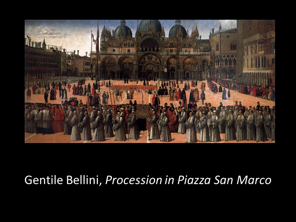 Gentile Bellini, Procession in Piazza San Marco