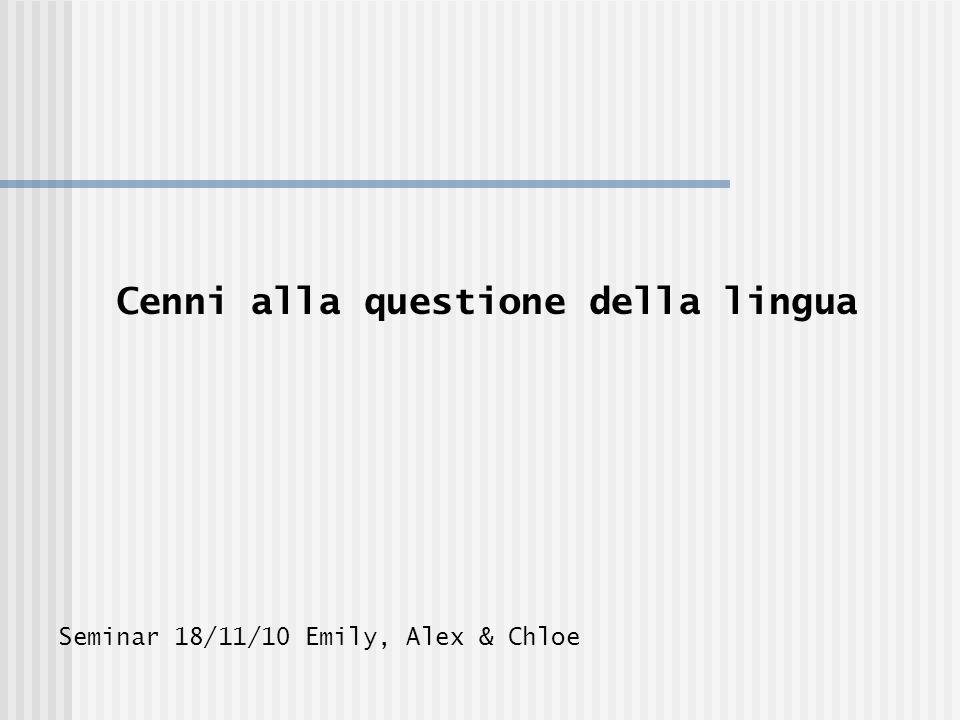 Dialetti: ricchezza o un problema? Enrico Brignano : http://www.youtube.com/watch?v=EjPkT-NN7iI