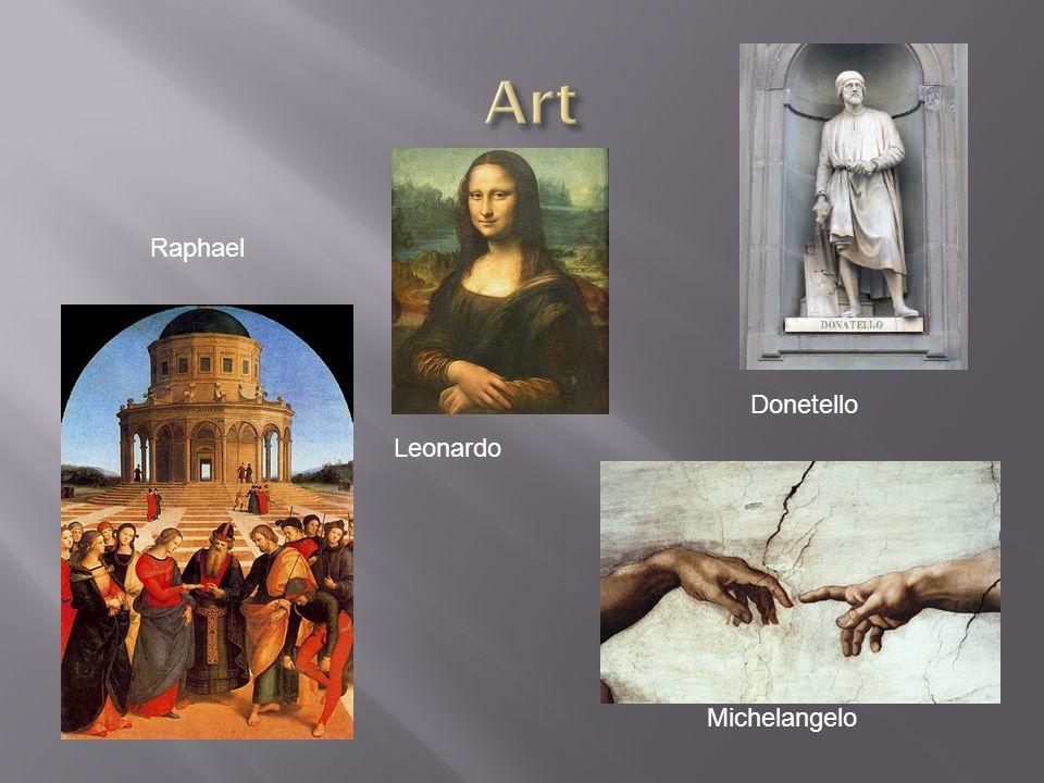 Michelangelo Donetello Leonardo Raphael