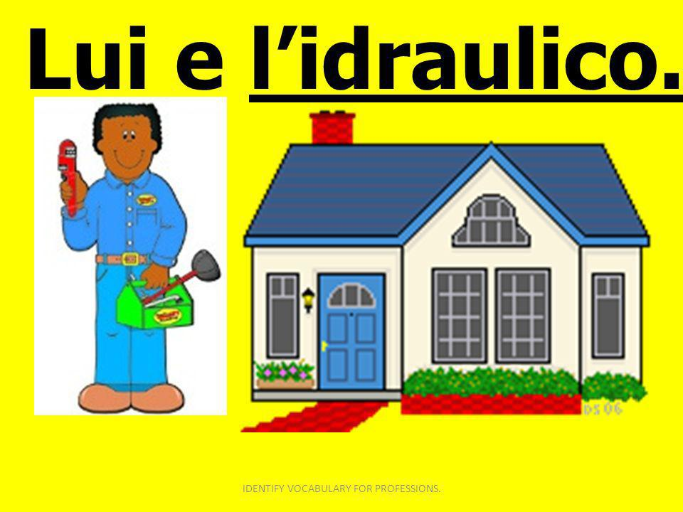 Lui e lidraulico. IDENTIFY VOCABULARY FOR PROFESSIONS.