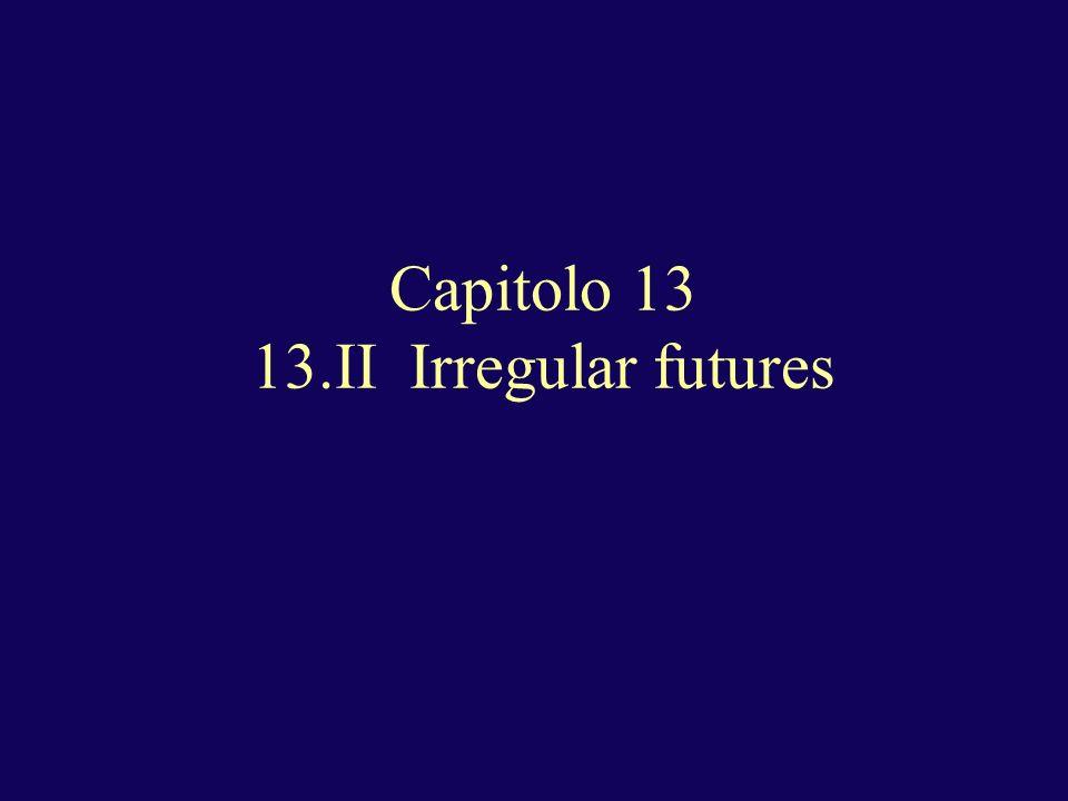 Capitolo 13 13.II Irregular futures