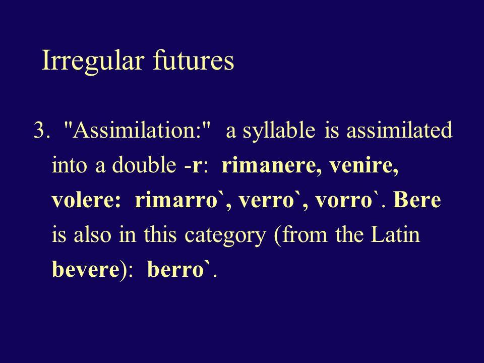 Irregular futures 3.
