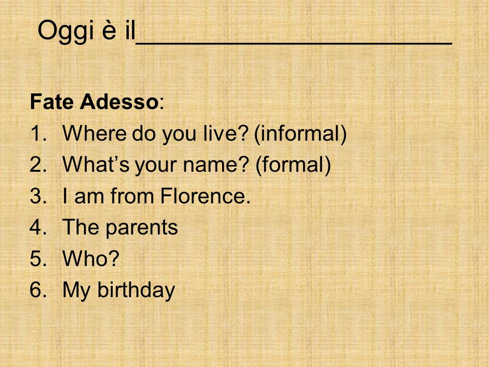 Personal Identification 1.I am 12 yrs.old. 2. I am very well today, thanks.