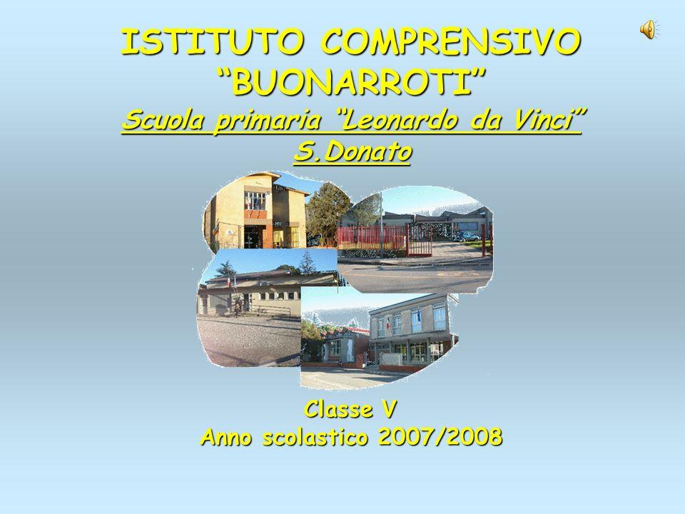 ISTITUTO COMPRENSIVO BUONARROTI Scuola primaria Leonardo da Vinci S.Donato Classe V Anno scolastico 2007/2008
