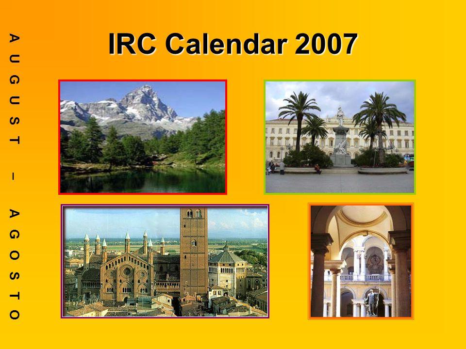IRC Calendar 2007 AUGUST – AGOSTO