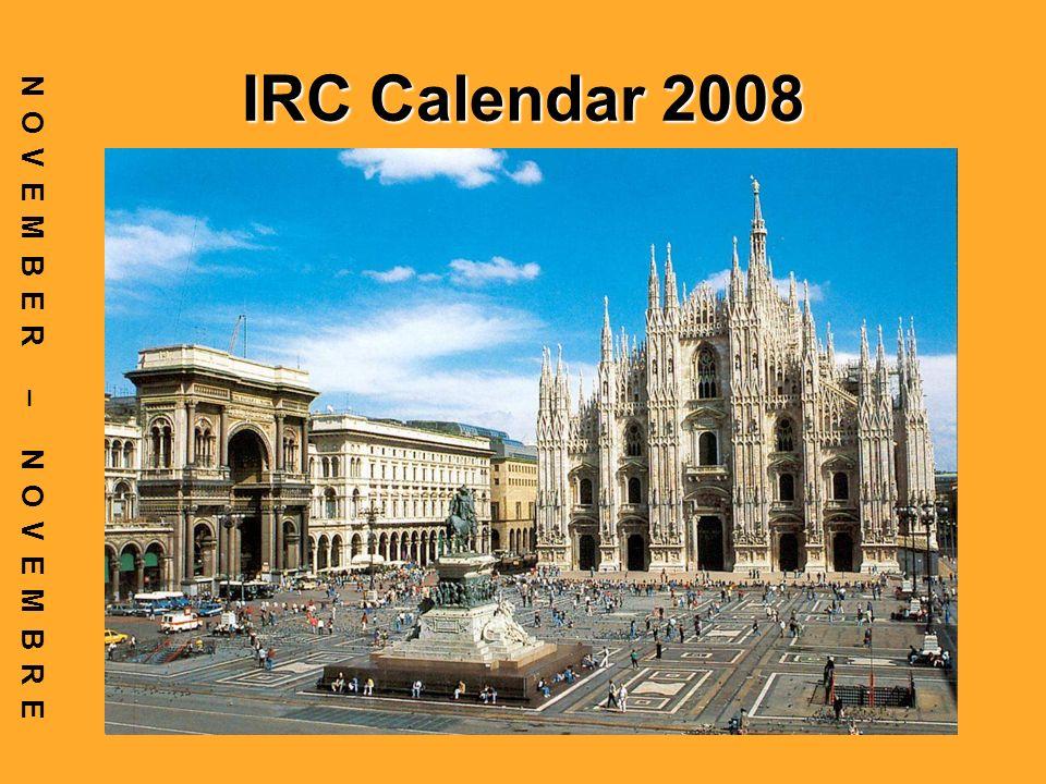 IRC Calendar 2008 NOVEMBER – NOVEMBRE