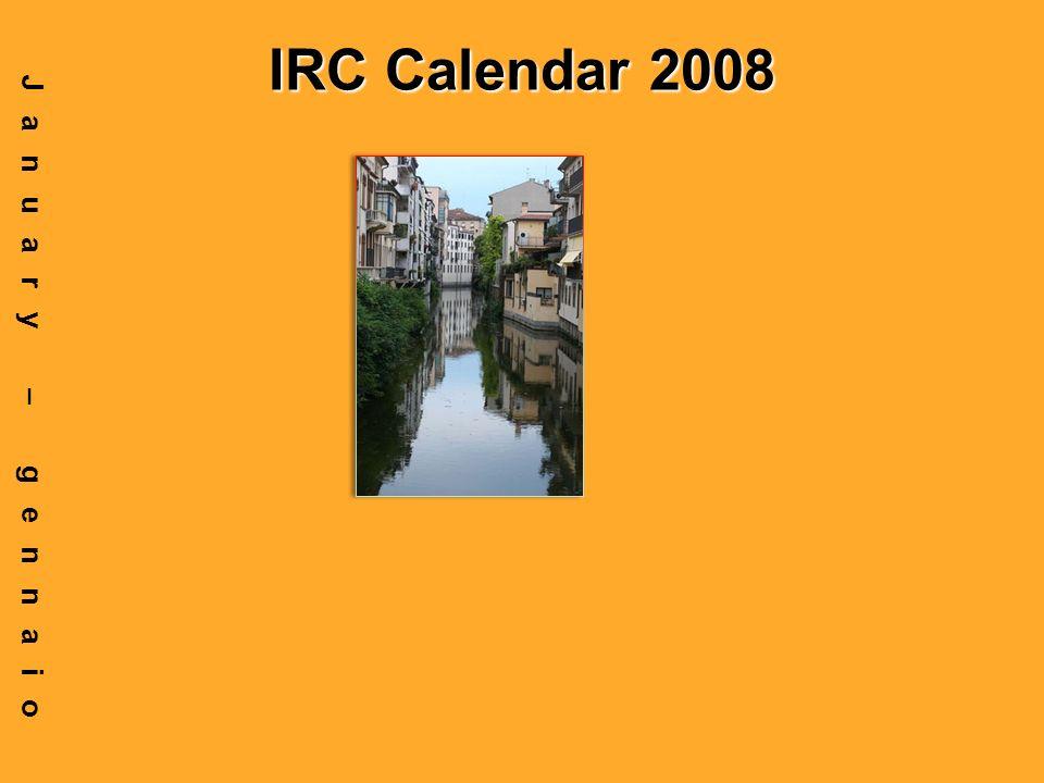IRC Calendar 2008 January – gennaio