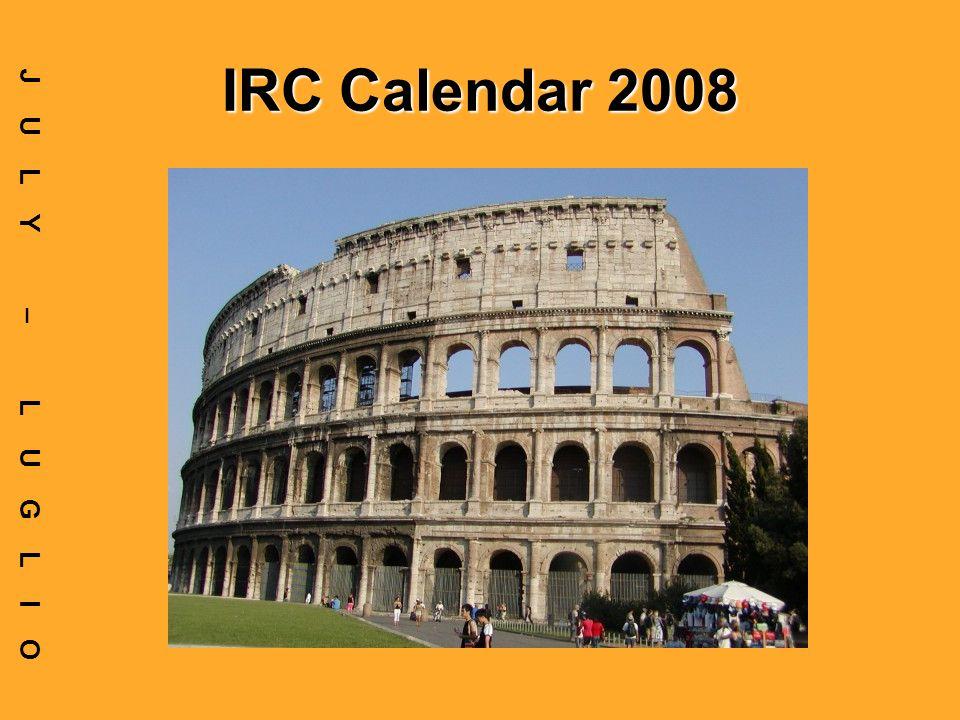 IRC Calendar 2008 JULY – LUGLIO